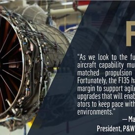 P&W Awarded Contract for F135 Modernization Study